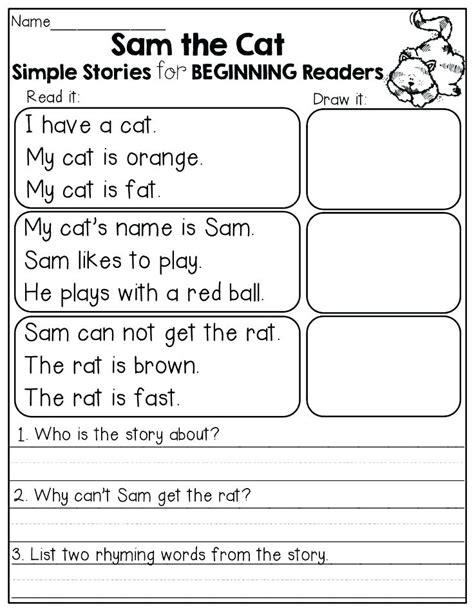 simple sentences worksheet 1 beginners reading worksheets