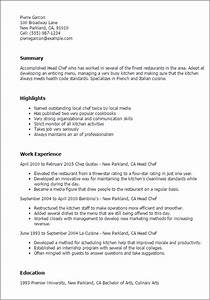 culinary resume templates to impress any employer livecareer With culinary experience resume