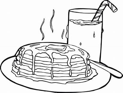 Pancake Coloring Pages Pancakes Drawing Realistic Printable
