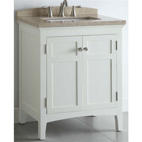 Allen Roth White Windelton Bath Vanity with Stone Top at