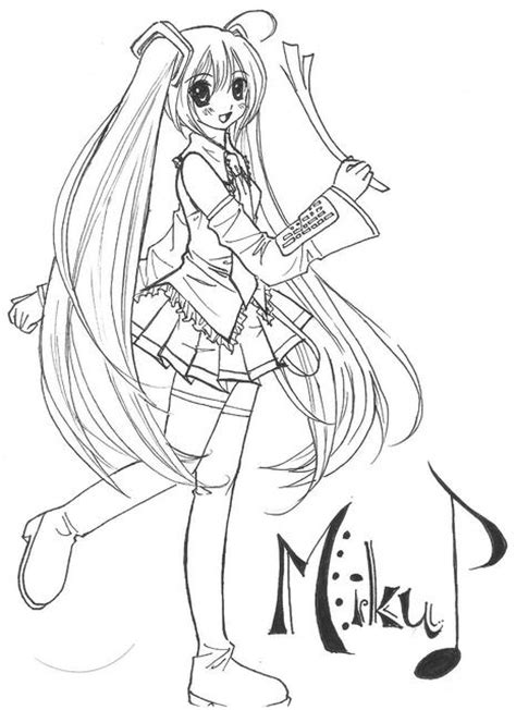 hatsune miku coloring pages coloring home