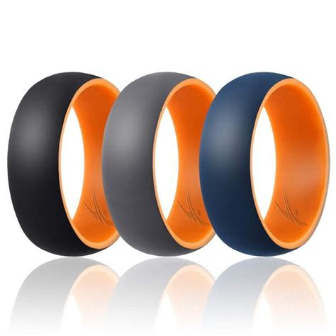 3 silicone rubber wedding bands for roq dome
