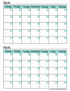 printable two month calendar template 2017 calendar 2018 With double month calendar template