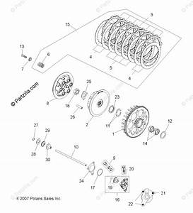 Polaris Atv 2008 Oem Parts Diagram For Engine  Clutch