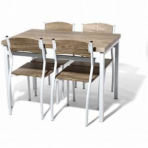 Meubles ensemble table ronde et chaise collection avec for Meuble salle À manger avec chaise cuisine noire
