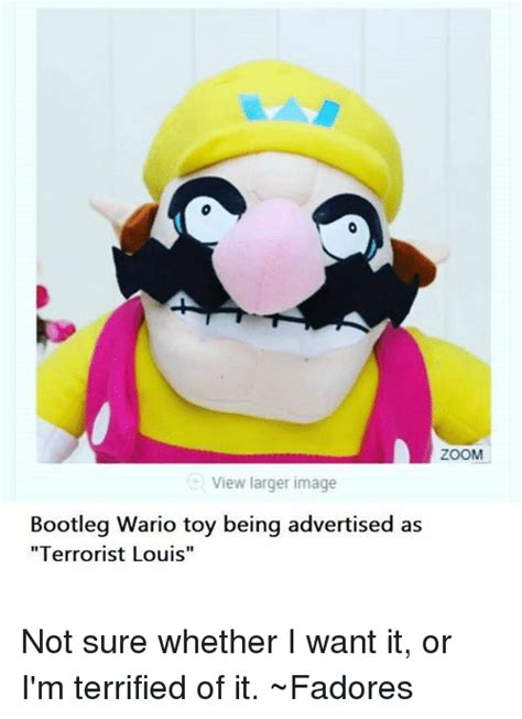 Wario Memes - zoom view larger image bootleg wario toy being advertised as terrorist louis not sure whether i