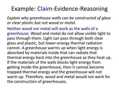 claim evidence reasoning template ppt claim evidence reasoning powerpoint presentation id 6910666