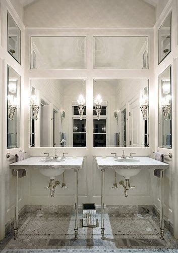 Mirrored Wall Bathroom by Glamorous Bathroom With Paneled Mirrored Walls