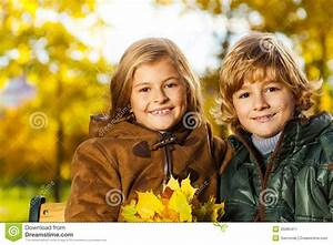 Blond and girl stock image. Image of kids, adorable ...