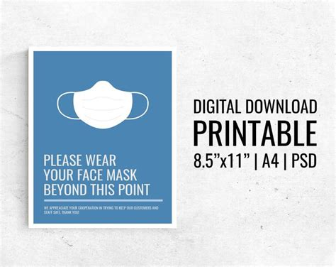 wear  mask   point poster printable
