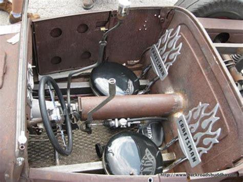 rat rod interior ideas images  pinterest car