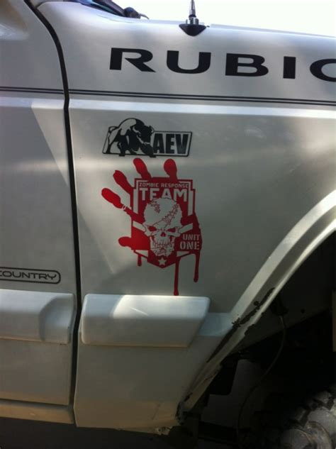 zombie jeep decals zombie stickers get 39 em while you are still alive