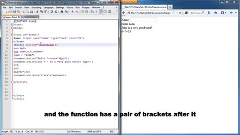 javascript lesson 3 accepting input from user using
