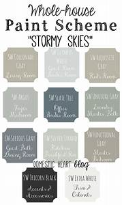 Whole house paint scheme stormy skies for Whole home interior paint ideas