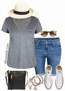 Plus Size Summer Shorts Outfit Plus Size Fashion