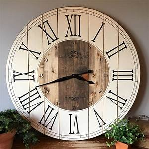 32 inch farmhouse clock With kitchen colors with white cabinets with art deco wall clocks large