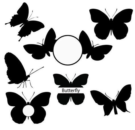 butterfly svg silhouette pack butterfly monogram clipart etsy   monogram frame
