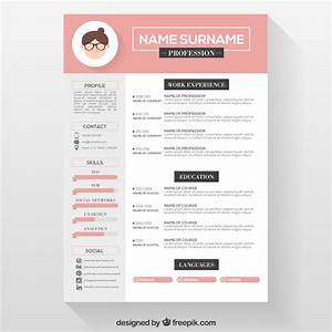 10 top free resume templates freepik blog for Free resume layout templates