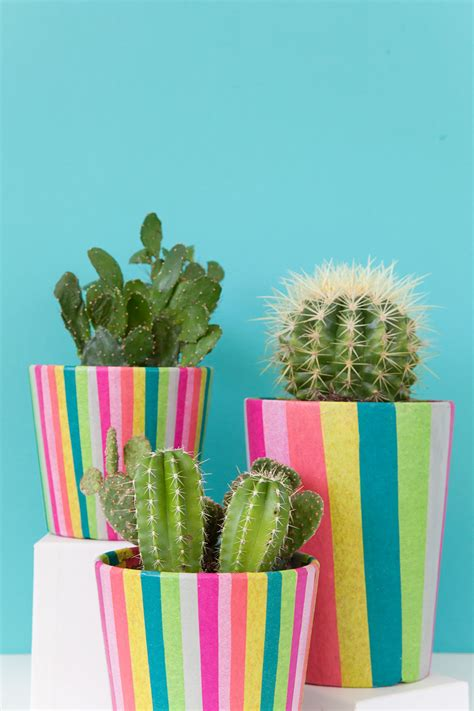 diy tissue paper covered pots  love  party