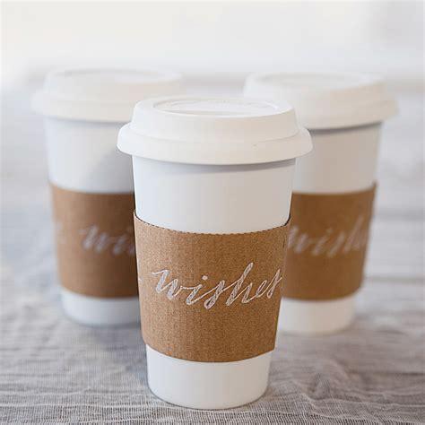 creative ways  serve coffee   wedding martha