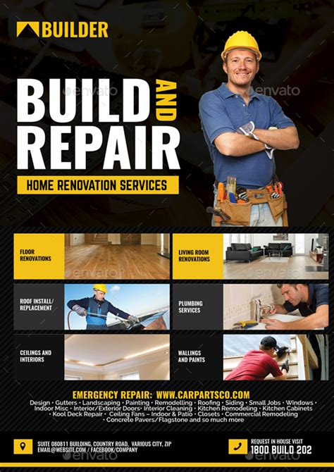 construction  renovation services flyer  artchery