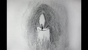 How To Draw And Sketch A Realistic Candle Using Pencil