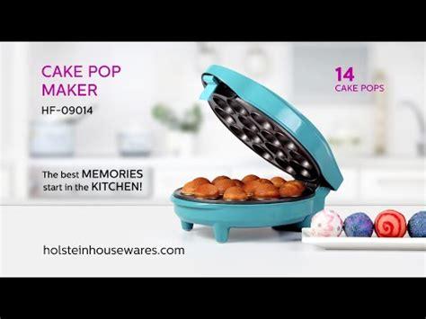 hf  cake pop maker holstein housewares youtube