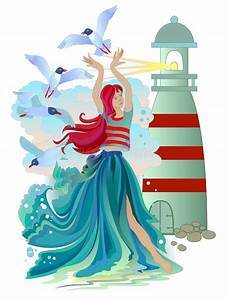 Lighthouse Poster Stock Vector  Illustration Of Ocean