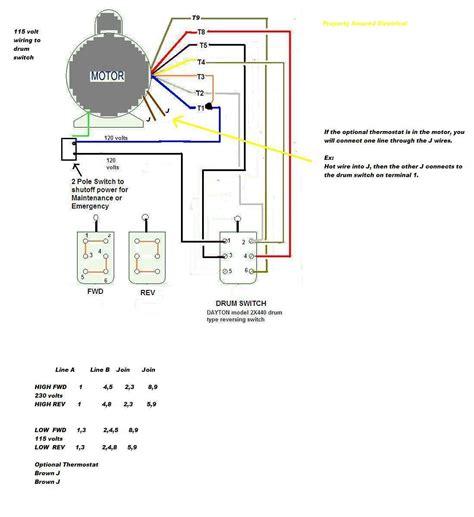 wire  baldor     pole drum switch single