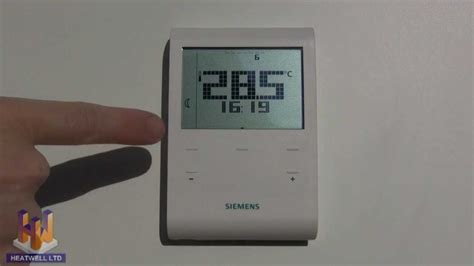 heatwell thermostat programming video  siemens rde