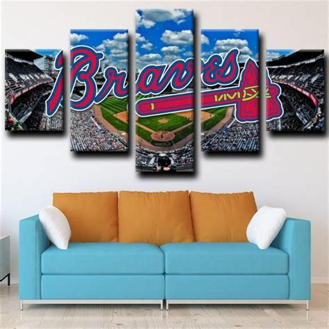 For additional information on these or other kids. Atlanta Braves Ballpark LOGO in 2020   Canvas art wall decor, 5 piece canvas art, Atlanta braves