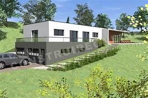 photo maison contemporaine sur terrain en pente terrain With plans de maison en l 6 maison mobile en bois arkko