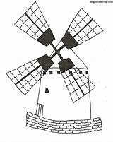 Coloring Pages Watermill Mill Template sketch template