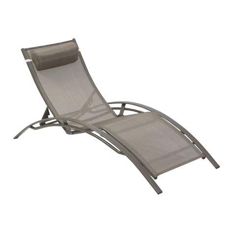 chaise longue leclerc bain de soleil de jardin en aluminium cappuccino leroy