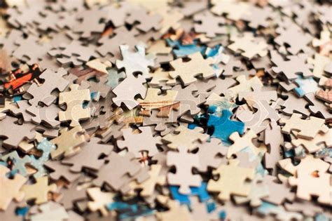 The Background Unsolved Bunch Of Jigsaw Puzzles Pieces