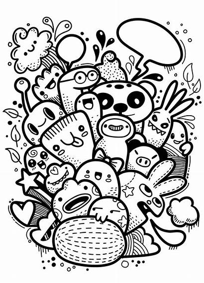 Monster Doodle Crazy Drawing Doodles Hand Drawings