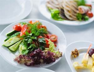 Vegetables Healthy Food On A White Plate Stock Photo - Image of food, salad: 34679726