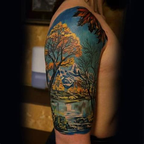 75 Tree Sleeve Tattoo Designs For Men - Ink Ideas With
