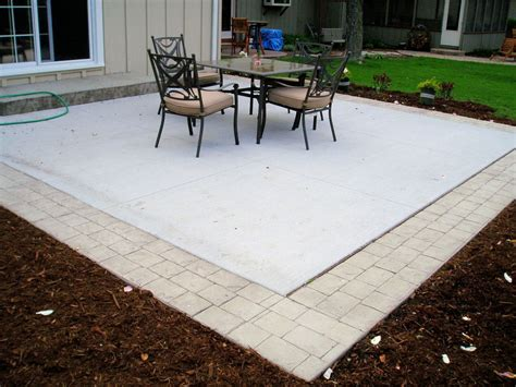 Concrete Patio Border Ideas Concrete Patio