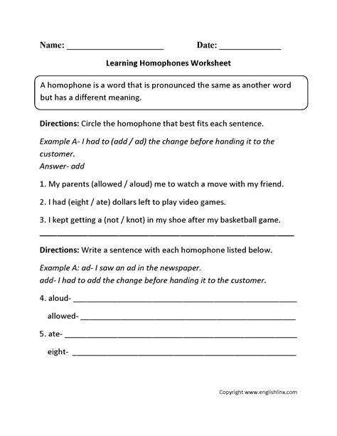worksheet homophones worksheets grass fedjp worksheet