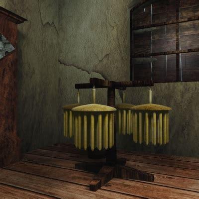 medieval village candlemaker  model