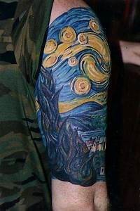 Van Gogh's Starry Night tattoo