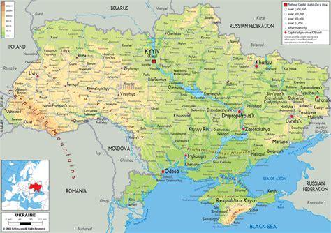 ukraine geographischen karte