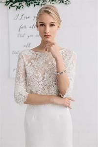 bridal separates top wedding top lace top beaded wedding With wedding dress separates top