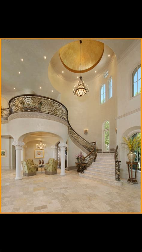 grand foyer mediterranean grandeur house stairways foyers
