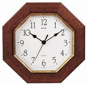 Horloge Murale Bois : horloge murale entourage bois octogonale ~ Teatrodelosmanantiales.com Idées de Décoration