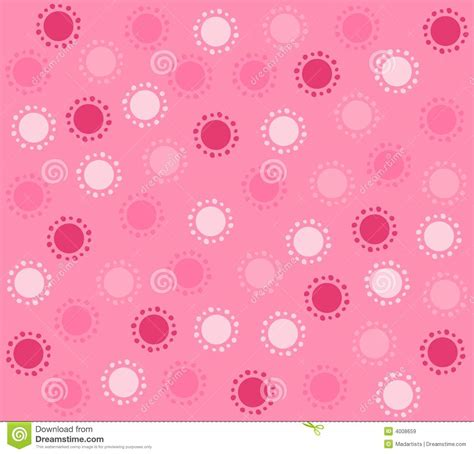 spring pink circles pattern background stock illustration