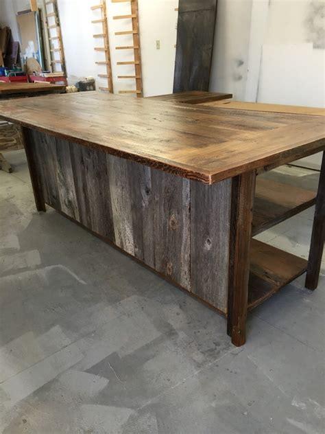 barnwood kitchen island kitchen island rustic woodreclaimed wood shelvesbarn siding