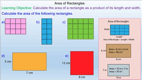 Area Of Rectangles For A Mixed Ability Maths Class Mrmathematicscom