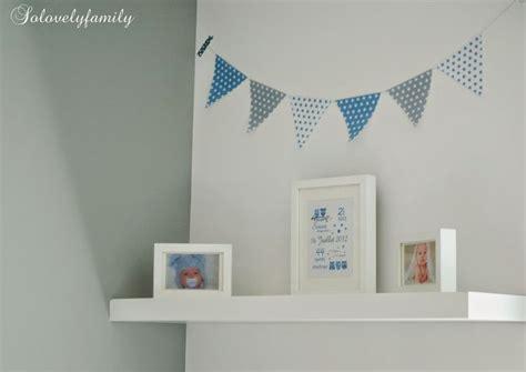 guirlande fanion chambre bebe guirlande fanion bleu gris blanc étoile papier chambre